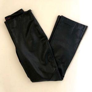 Ralph Lauren Plaid Label 💯 Leather Pants